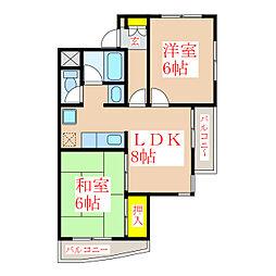 武レディースマンション[2階]の間取り