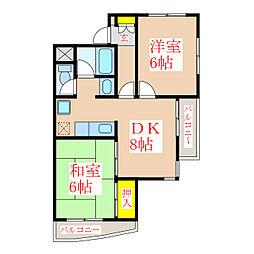 武レディースマンション[1階]の間取り