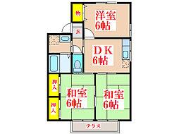 PAX明和B棟[1階]の間取り