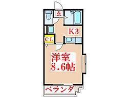 ボヌール武[1階]の間取り
