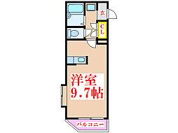 ボヌール武[2階]の間取り