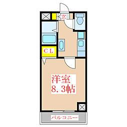 ビラ加治屋[3階]の間取り