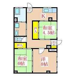 コーポ田中 [1階]の間取り