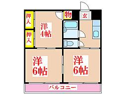 園中第三ビル [2階]の間取り