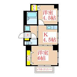 サンロイヤル新屋敷[5階]の間取り