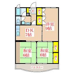 グリーンハイツソムタ[3階]の間取り