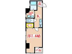 プチシャトラン樋之口[4階]の間取り
