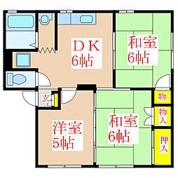 ソファレ玉里A棟 [1階]の間取り