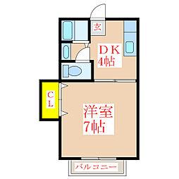 共研ハイツII[5階]の間取り