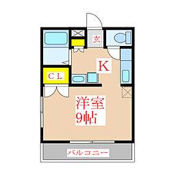 Manoir Nakamura[2階]の間取り