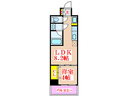 CENTRE VILLAGE[5階]の間取り