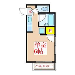 エース平之町[3階]の間取り