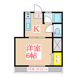 二宮ハイツ[2階]の間取り