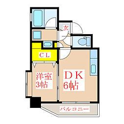 ツインコート・タワーズI番館[8階]の間取り