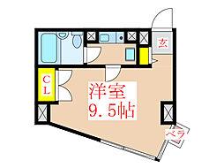 ライオンズマンション天文館 1102[11階]の間取り