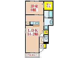 ルーチェ・アモンA棟[1階]の間取り