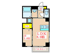 SAT BLD 呉服[4階]の間取り