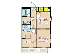 サニークレスト南林寺[6階]の間取り