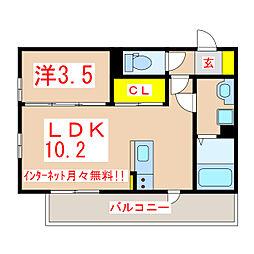 (仮称)D-room上荒田T[303号室]の間取り