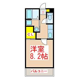 鹿児島市電1系統 鴨池駅 徒歩4分の賃貸マンション 1階1Kの間取り