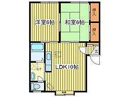 北海道札幌市東区伏古九条2丁目の賃貸アパートの間取り