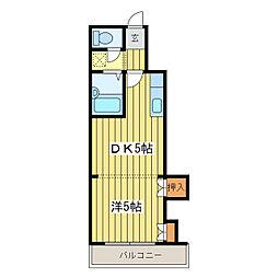 シャトープレイン[2階]の間取り