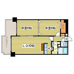 ウィンコート39[1階]の間取り