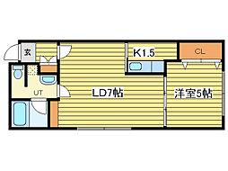 PISO 218F[3階]の間取り