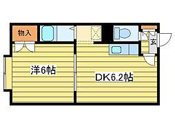 KDビル[2階]の間取り