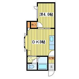 第10ベルハイム[1階]の間取り