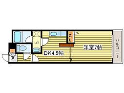 ベル31B[3階]の間取り