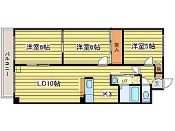 北海道札幌市東区北四十条東18丁目の賃貸マンションの間取り