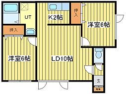 ランドマーク21[2階]の間取り