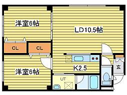 レ・グラン元町[4階]の間取り