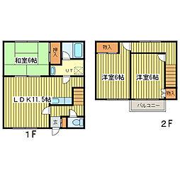 [テラスハウス] 北海道札幌市東区北十二条東14丁目 の賃貸【/】の間取り