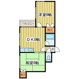 アンビション札幌東[4階]の間取り