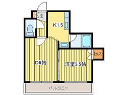 オーシャンビレッジ12[1階]の間取り