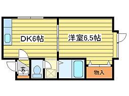 ピクシー元町[102号室]の間取り