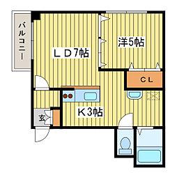 北海道札幌市東区北十五条東4丁目の賃貸マンションの間取り