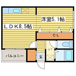 コート・モンターニュ[2階]の間取り
