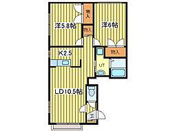 マイドリーム1[1階]の間取り