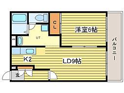 ライズ33[3階]の間取り