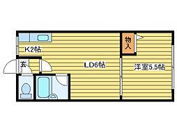 北海道札幌市東区北九条東11丁目の賃貸アパートの間取り