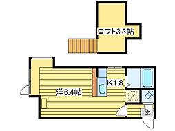 プチメゾンカトレア[3階]の間取り