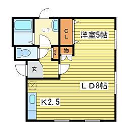 CASA 北16条[2階]の間取り