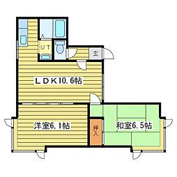 ハートピア26[2階]の間取り