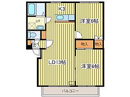 富士マンション[2階]の間取り