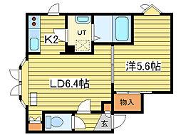 シャトレーヌ13[2階]の間取り