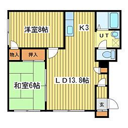 メゾンコート37[2階]の間取り
