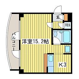 ドミトリ・クレスト[1階]の間取り